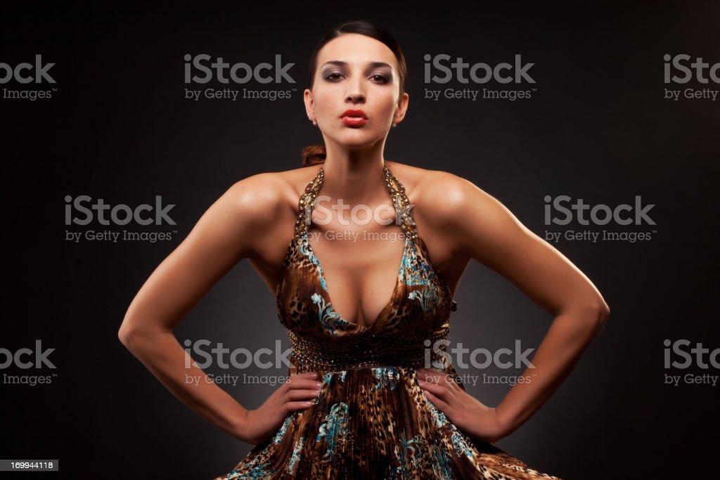 Fashion portrait of beautiful woman royalty-free stock photo