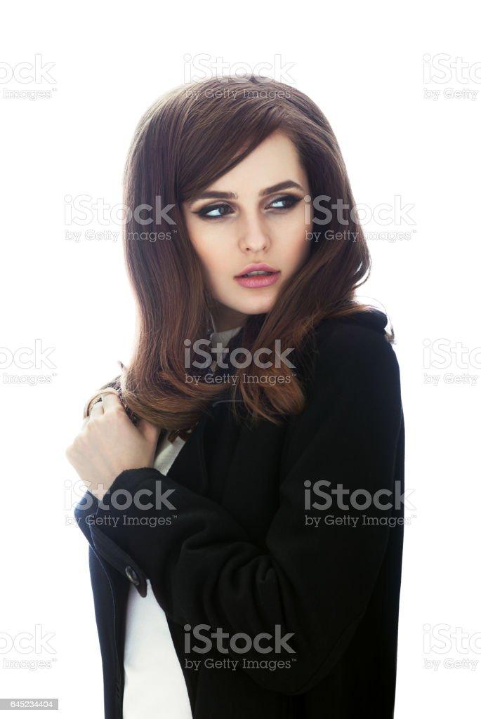 Mode-Porträt von sicher schöne Frau im retro-Stil – Foto