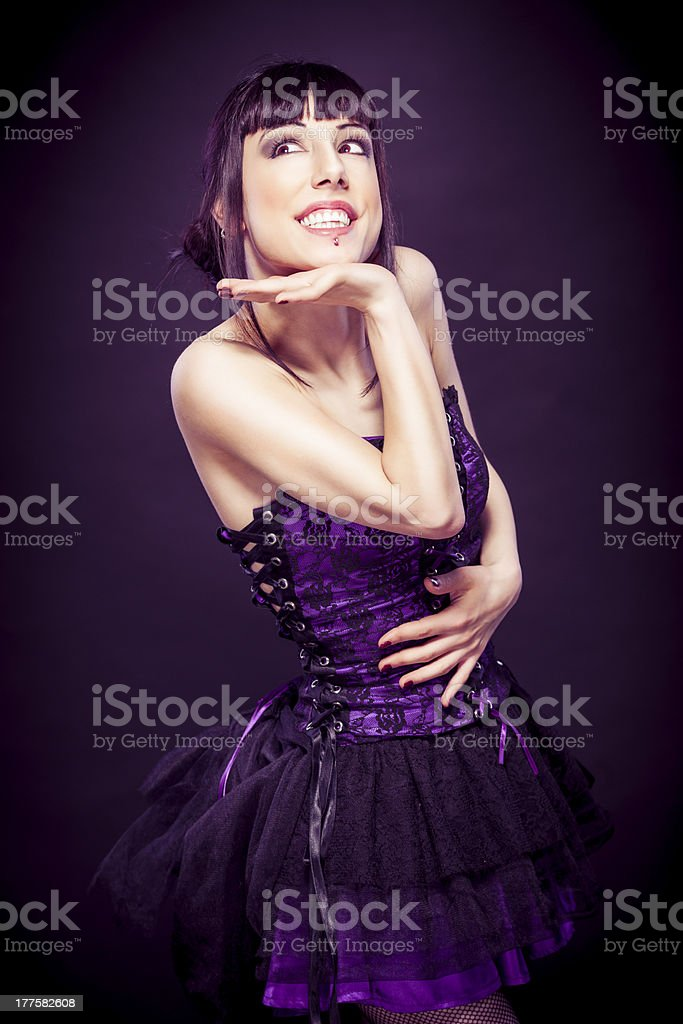 Fashion portrait of contemporary young woman royalty-free stock photo