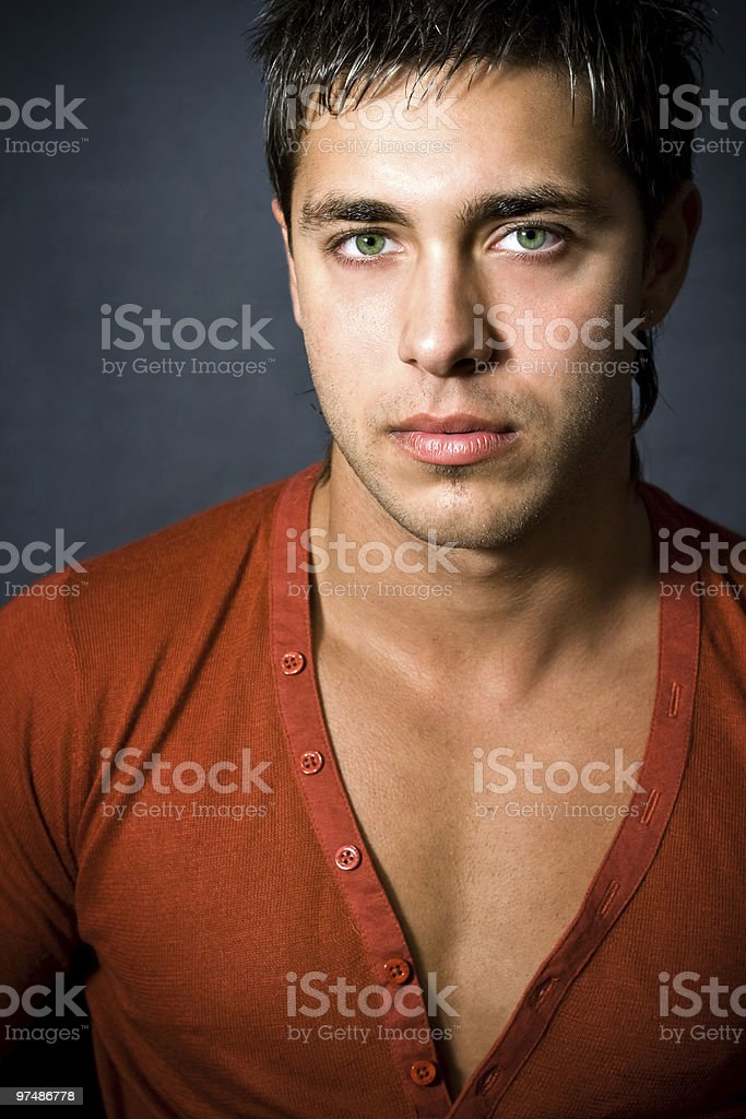 Fashion portrait of handsome sexy man royalty-free stock photo