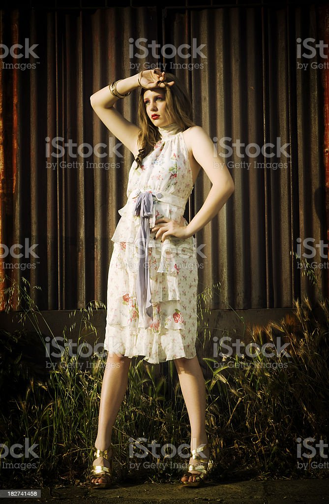 Fashion portrait of sensual young woman royalty-free stock photo