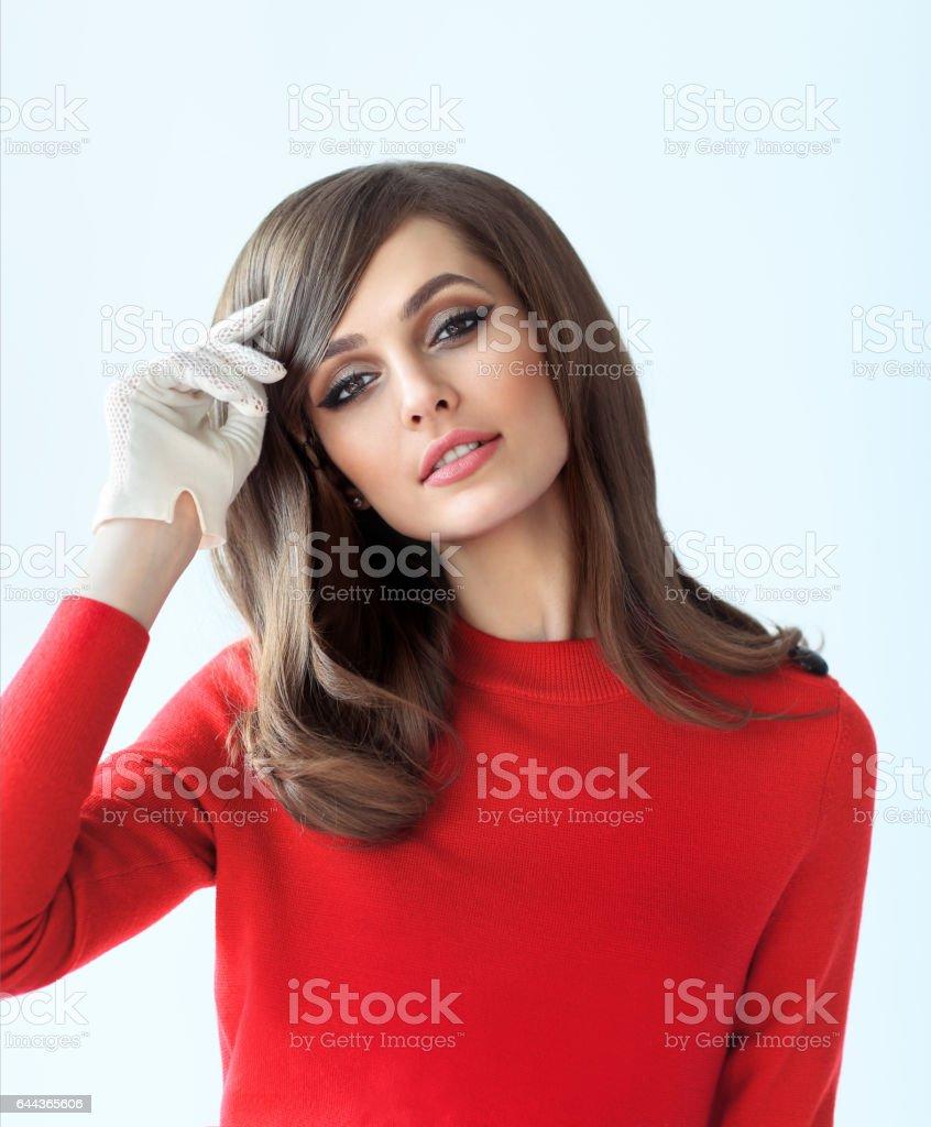 Mode-Portrait von junge schöne Frau im retro-Stil – Foto