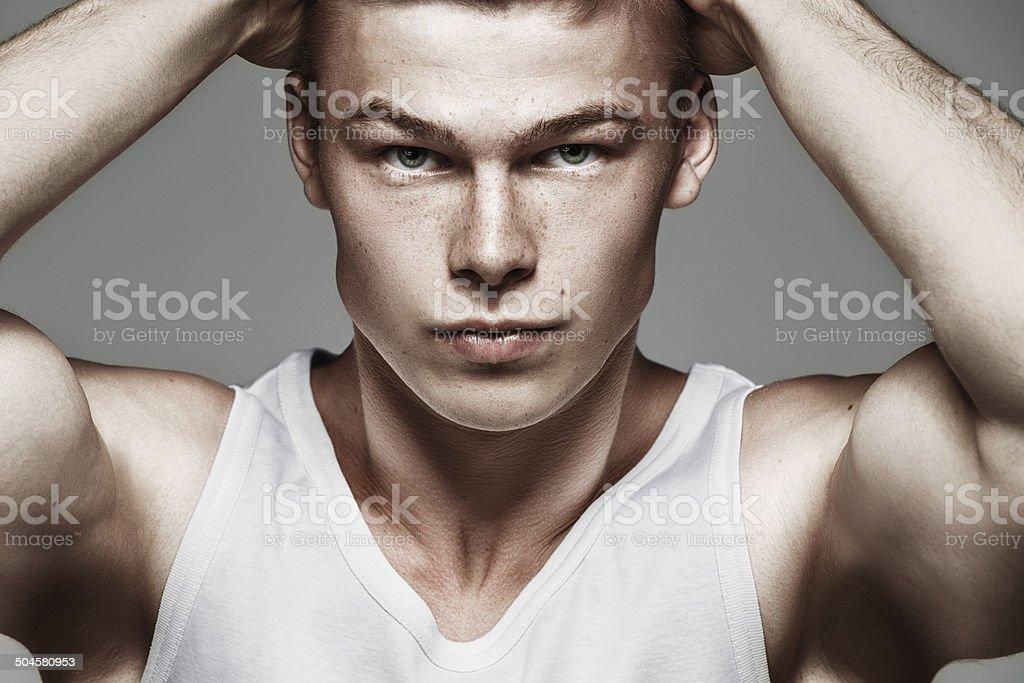 Retrato de jovem moda - fotografia de stock