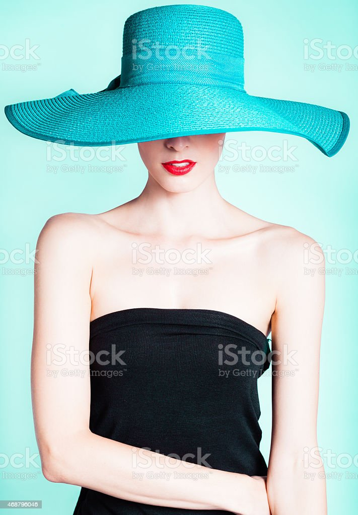 Fashion portrait stock photo