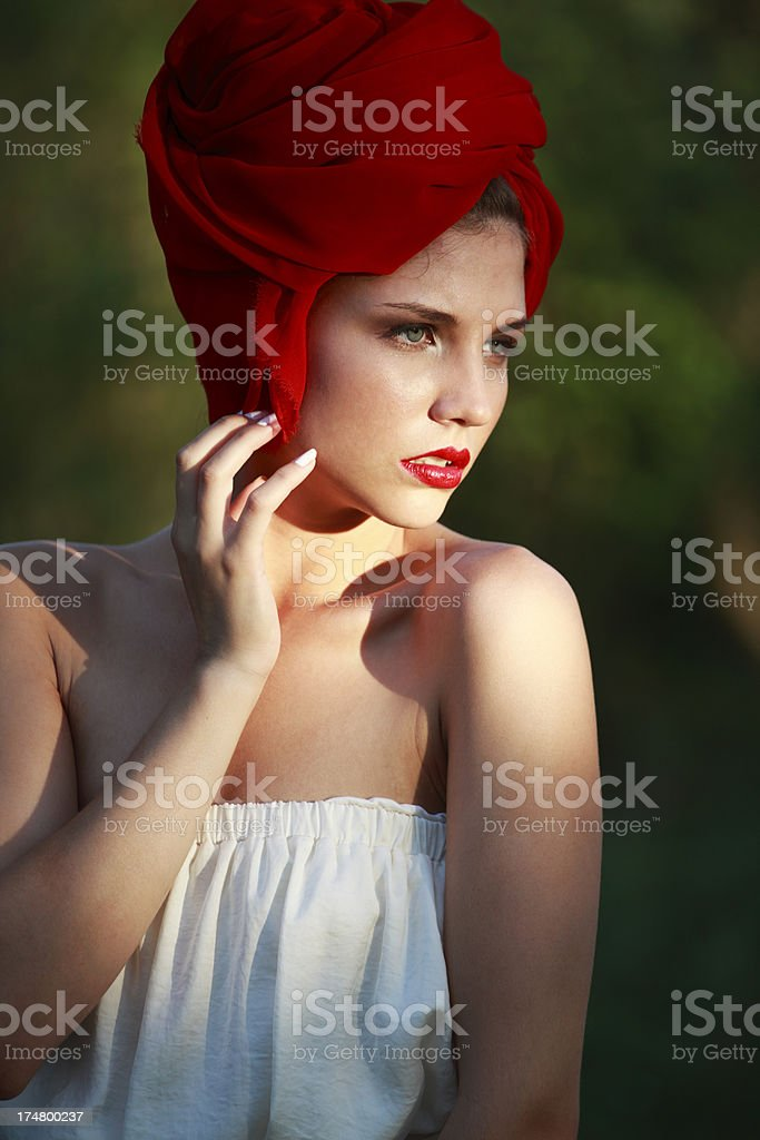 Fashion red riding hood royalty-free stock photo