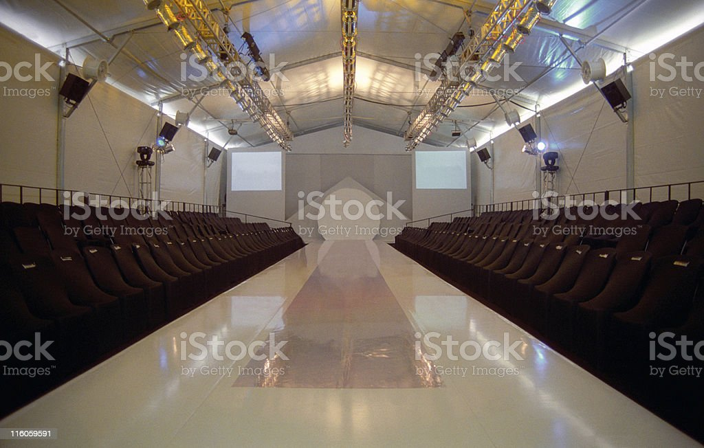 Fashion runway stock photo