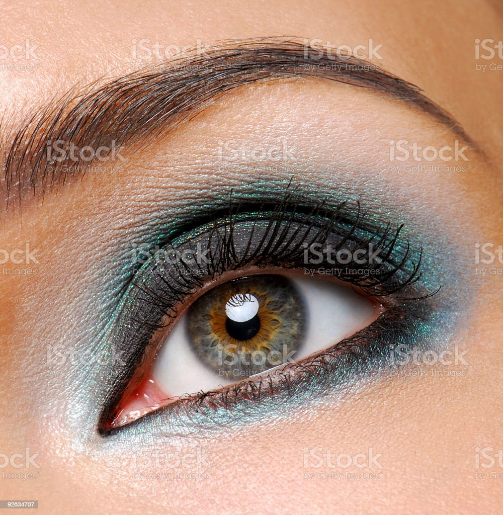 fashion shine make-up royalty-free stock photo