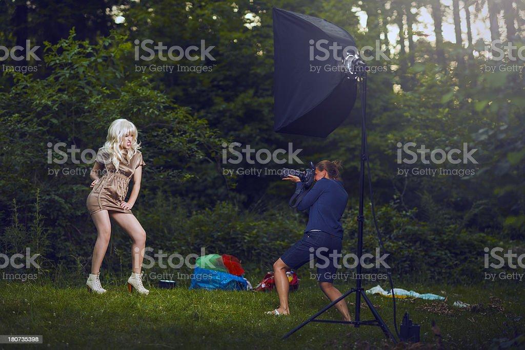 fashion shoot royalty-free stock photo