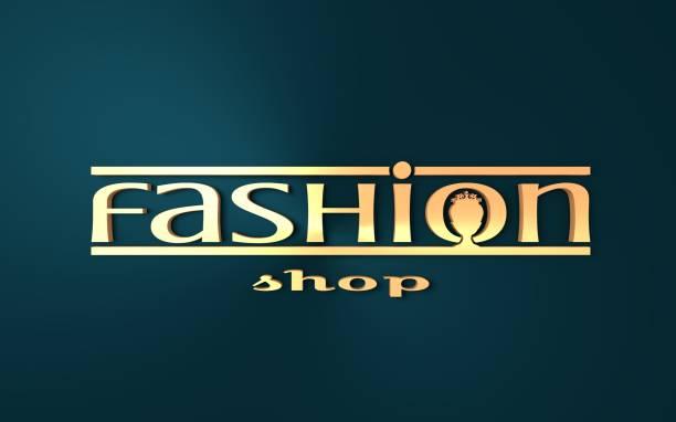 Mode butik Logotypdesign. bildbanksfoto