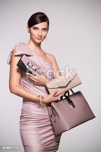 istock Fashion shopping purses 618977174