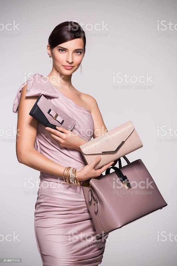 Fashion shopping purses stock photo