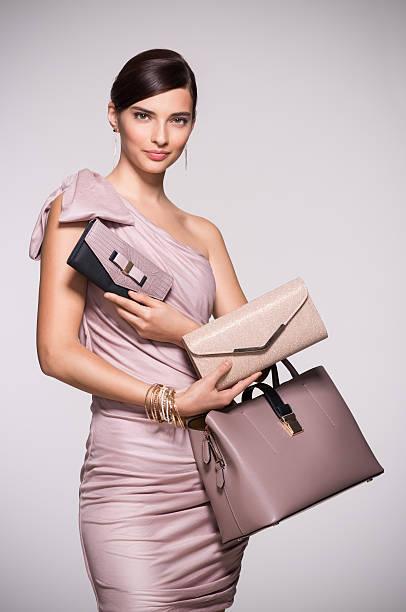 Fashion shopping purses - foto de stock