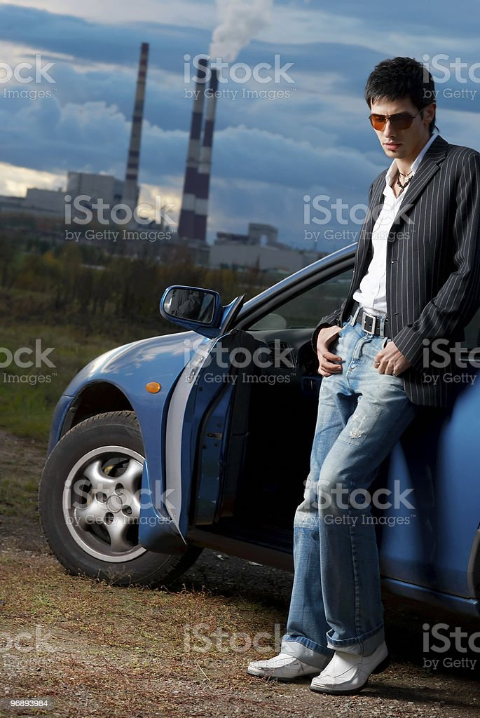 Fashion shot of a handsome young man royalty-free stock photo