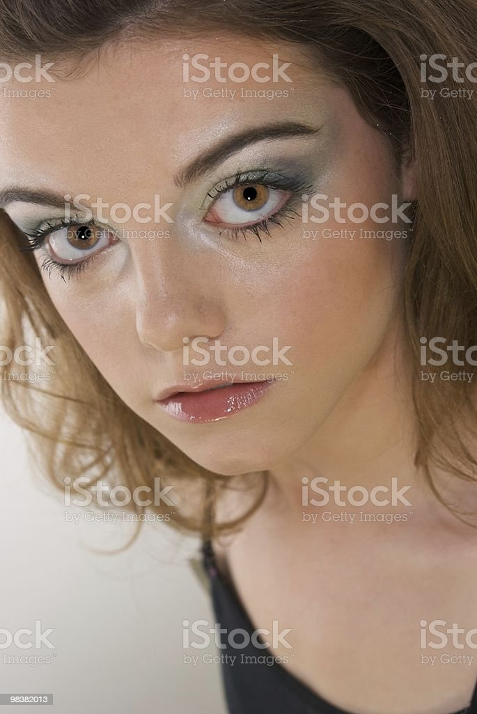 Fashion Shot of Teen with Brown Eyes royalty-free stock photo