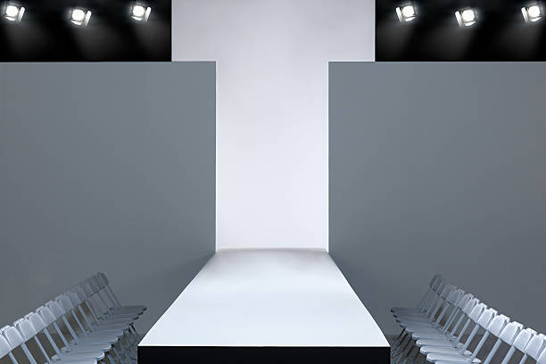 Fashion show and empty catwalk  ramp stock pictures, royalty-free photos & images