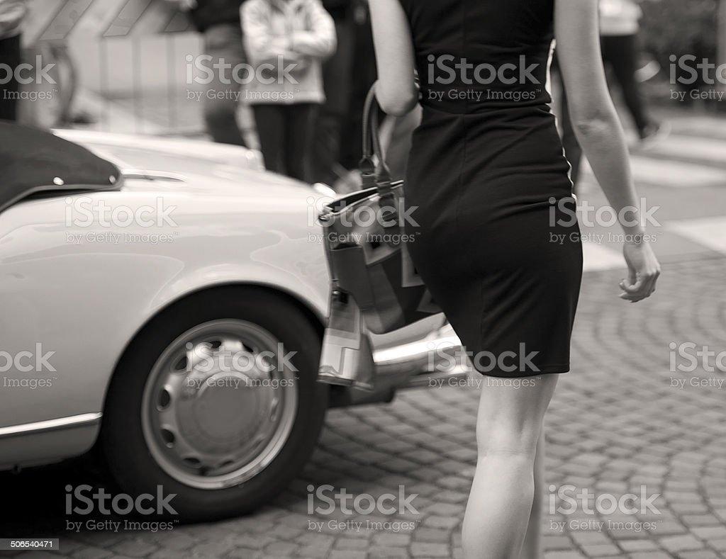 Desfile de moda de la calle - foto de stock