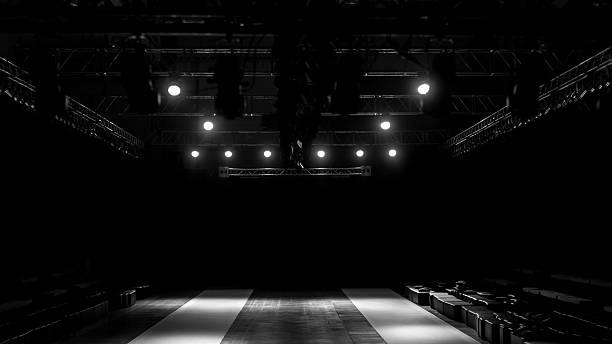 fashion show stage empty fashion show stageempty fashion show stage stage light stock pictures, royalty-free photos & images
