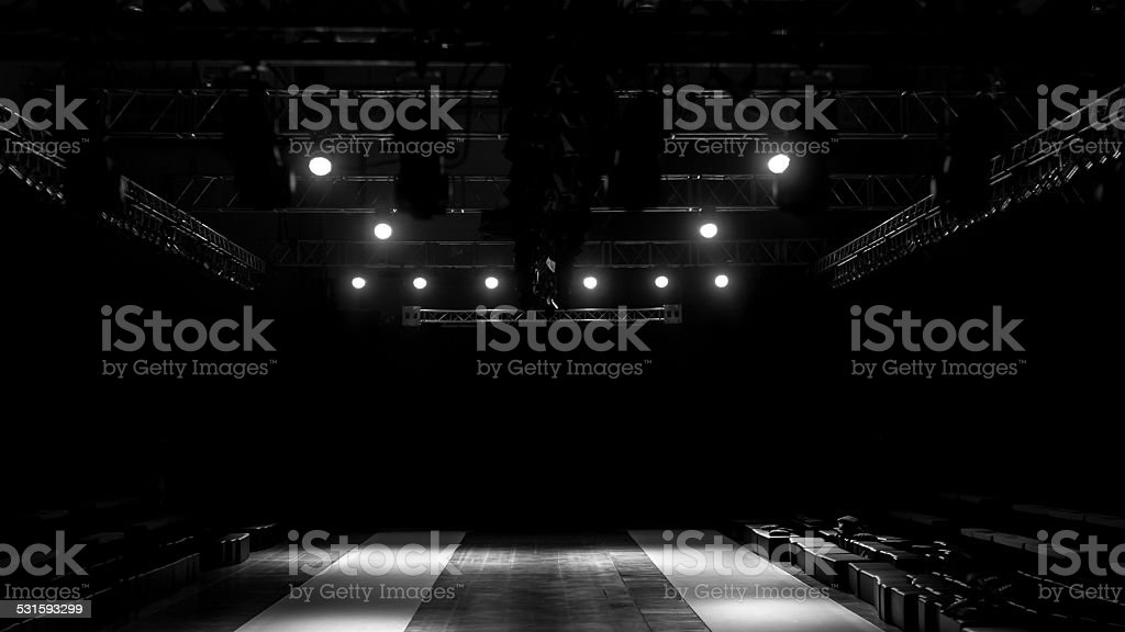 fashion show stage stock photo