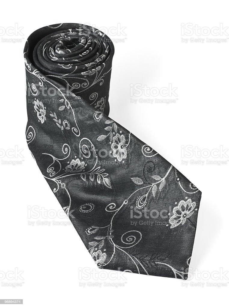 Fashion silk necktie isolated on white background royalty-free stock photo