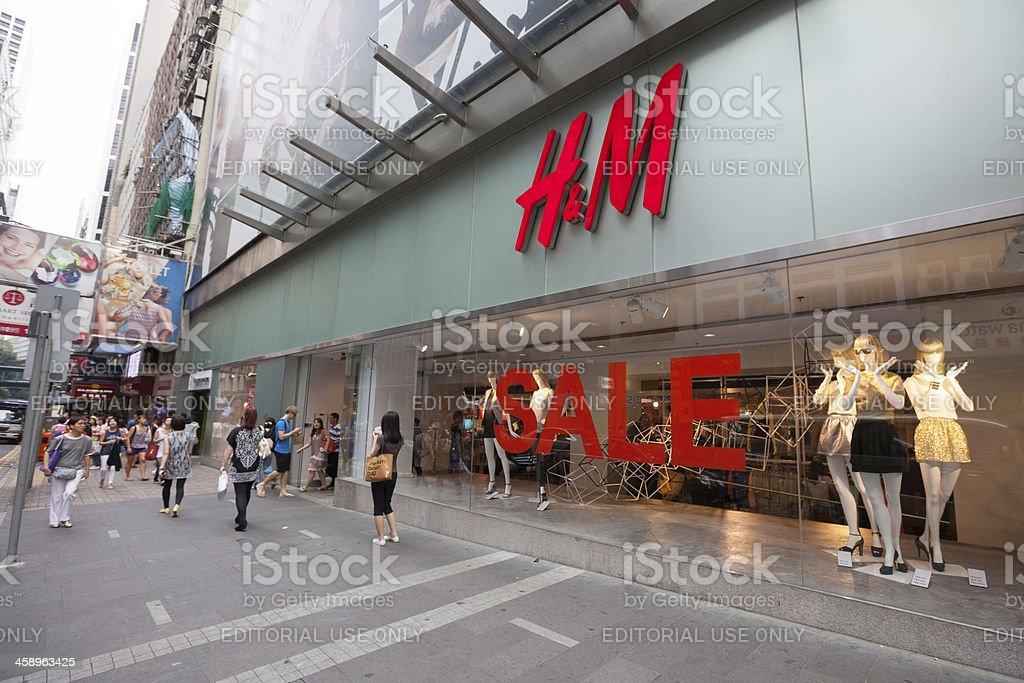 H&M fashion store in Hong Kong royalty-free stock photo