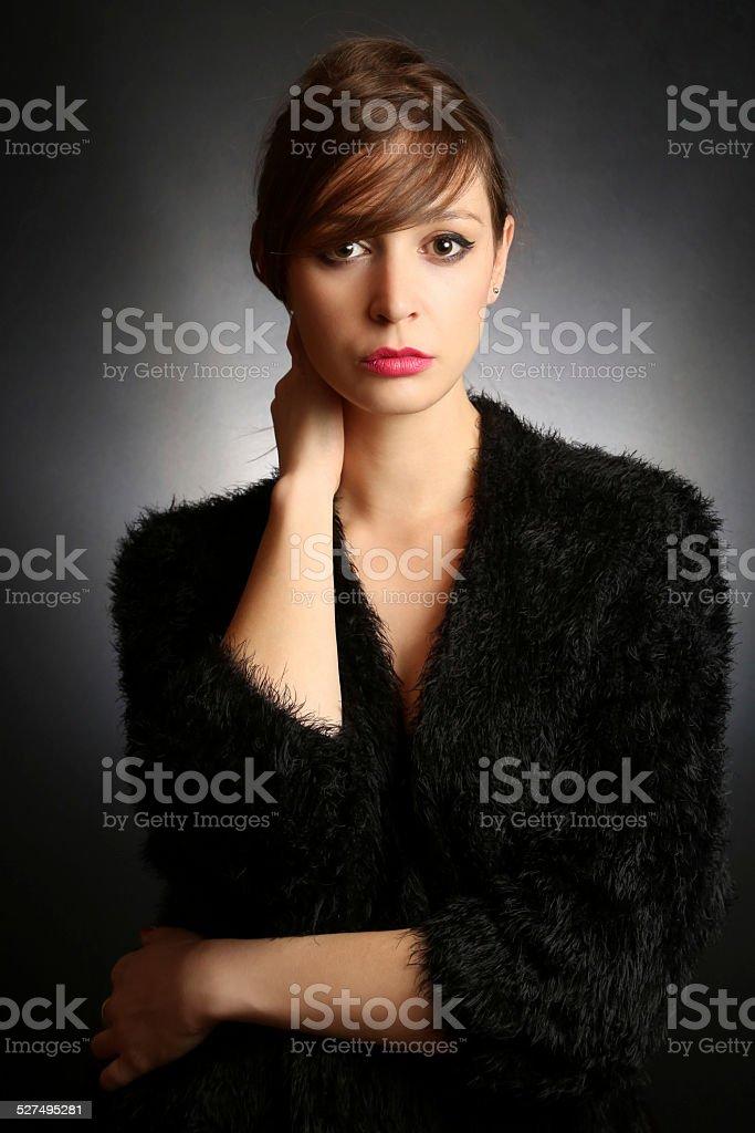 Fashion studio portrait stock photo