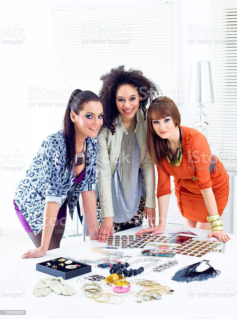 Fashion stylists at work royalty-free stock photo