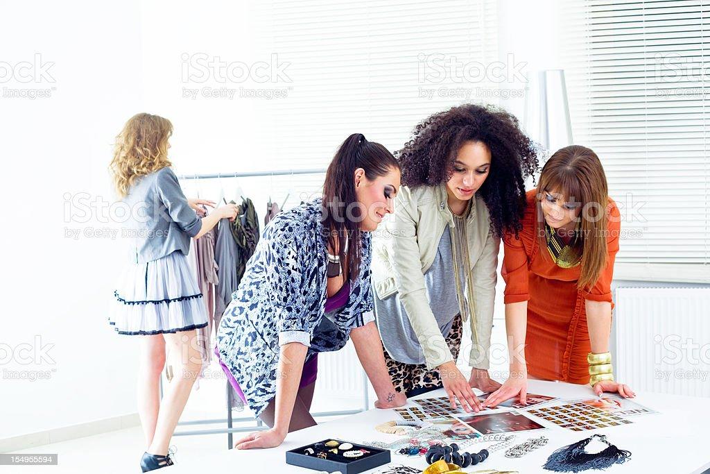 Fashion stylists at work royalty-free stock photo