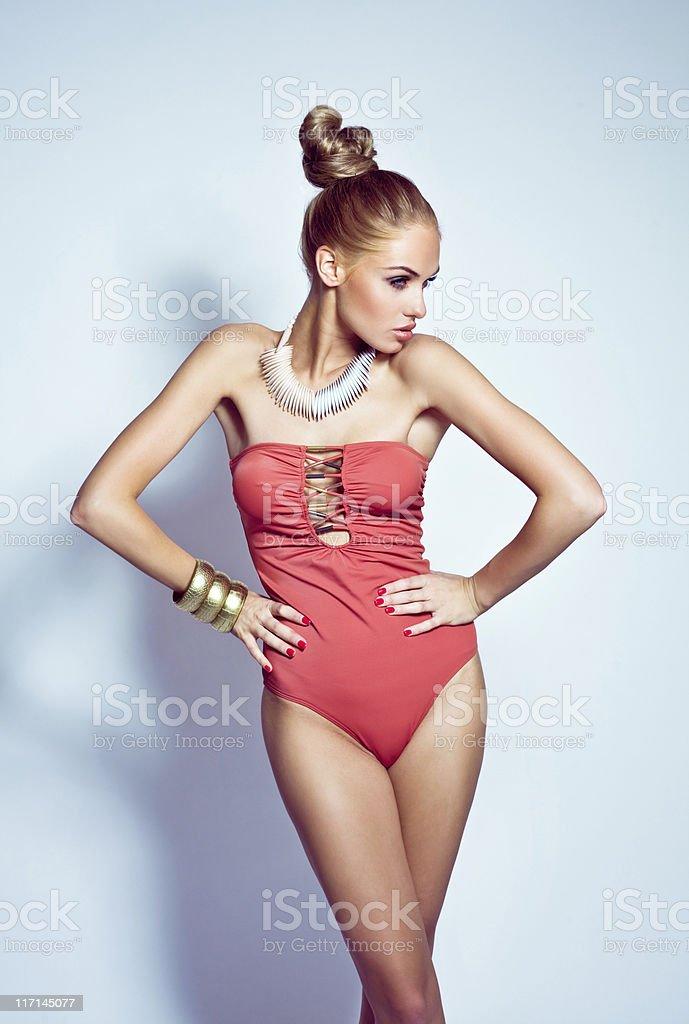 Fashion Summer Girl royalty-free stock photo