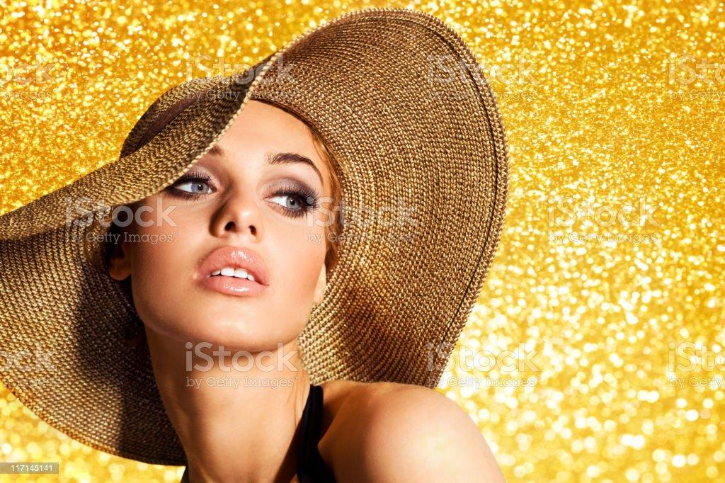 Fashion Summer Portrait royalty-free stock photo