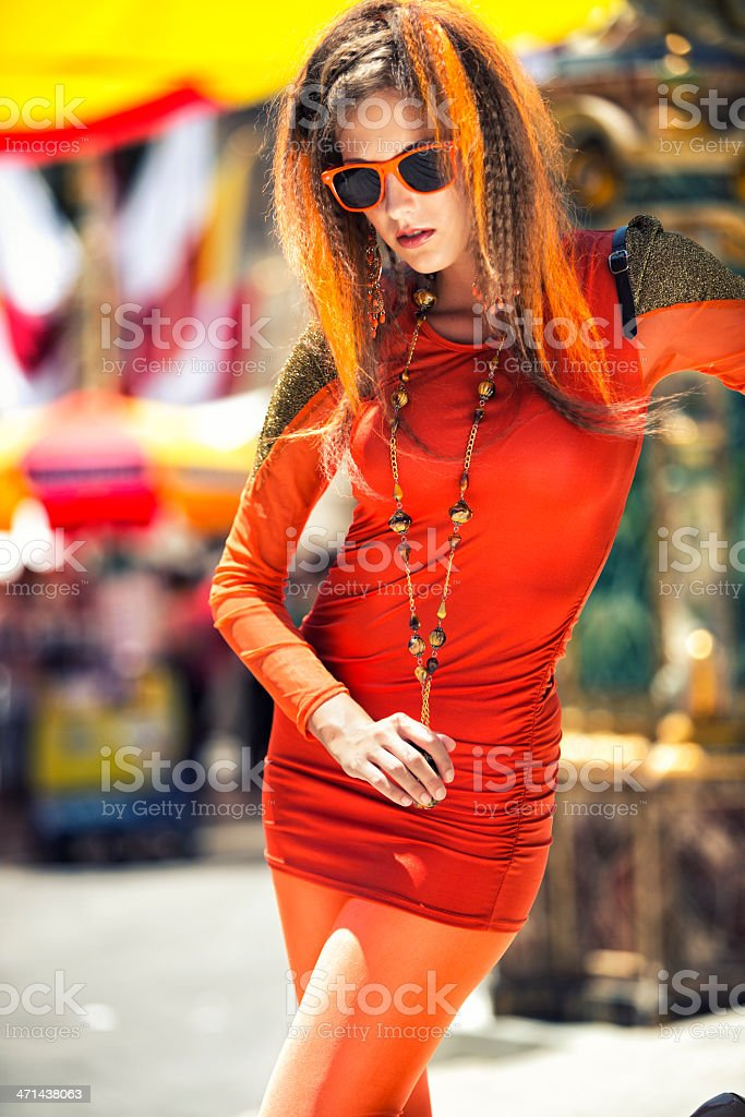 Fashion Trend 2012 - Orange stock photo