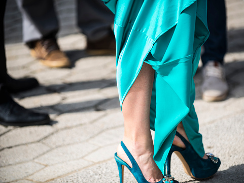 578573556 istock photo Fashion turquoise dress 926357304