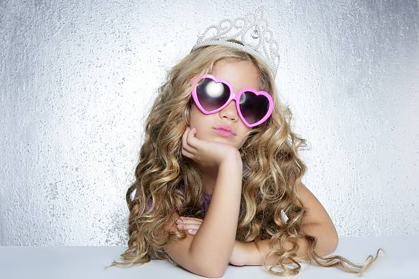 victime de la mode petite fille princesse portrait - Photo