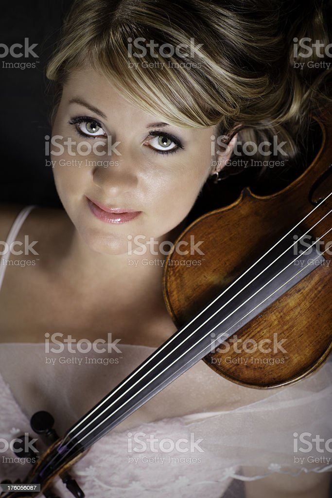 Fashion Violinist royalty-free stock photo