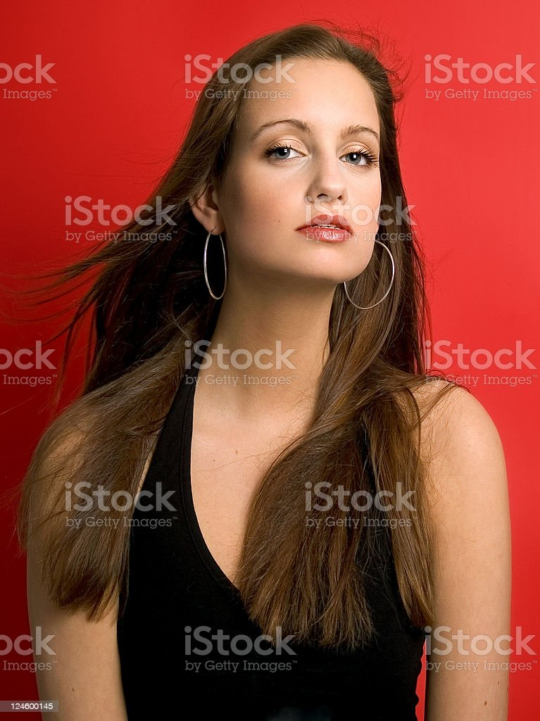 Fashion With Red Backround stock photo