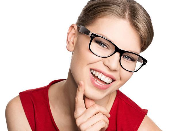 Mode Frau in eyeglasses – Foto