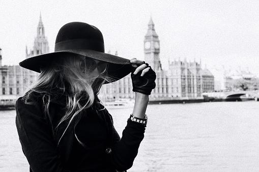 London fashion stock photos