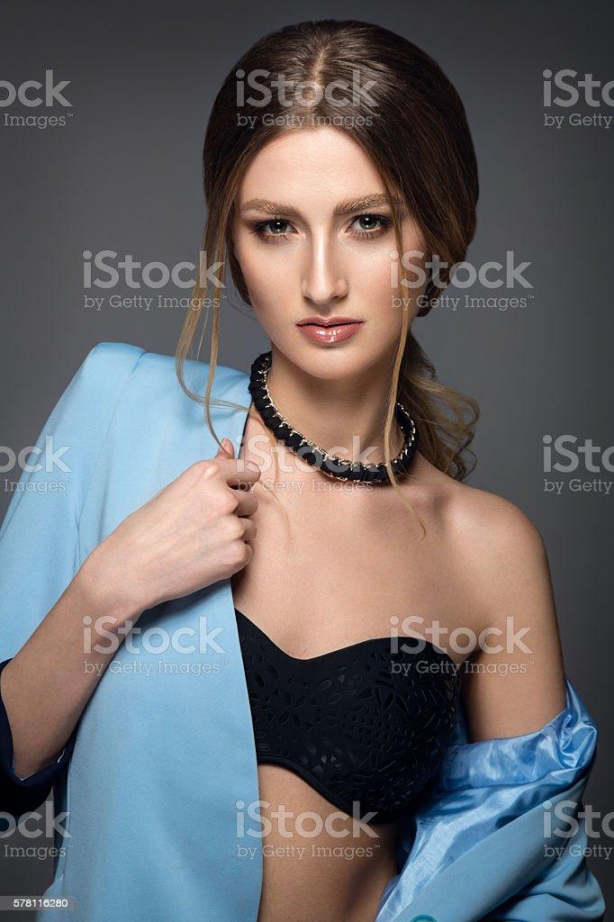 Fashion woman portrait. stock photo