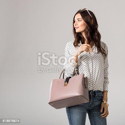 istock Fashion woman shopping 618976674