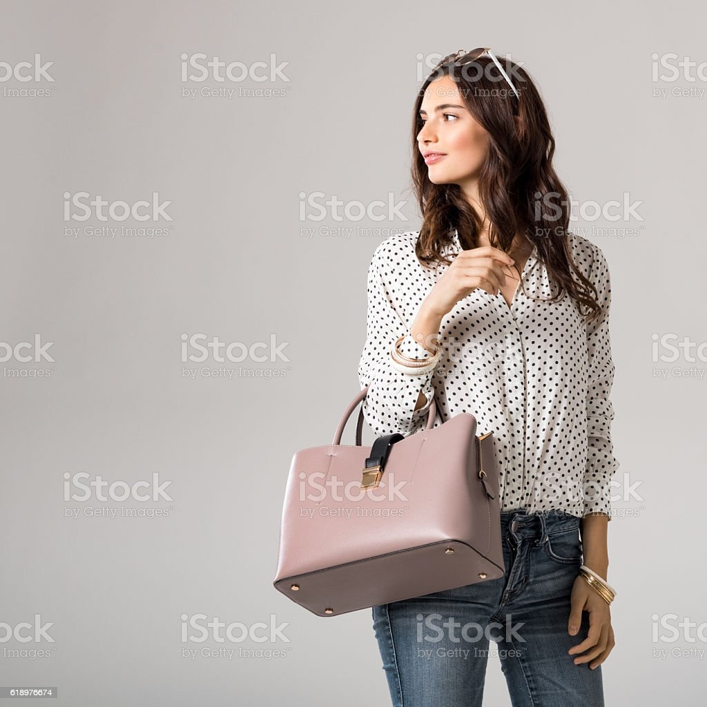 Fashion woman shopping - foto de stock