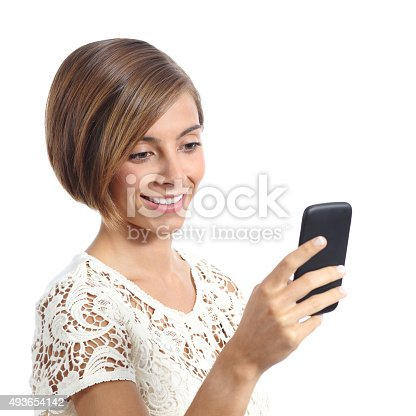 istock Fashion woman using a smart mobile phone 493654142