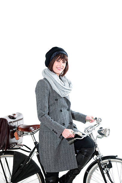 Fashion Woman With Bicycle stock photo