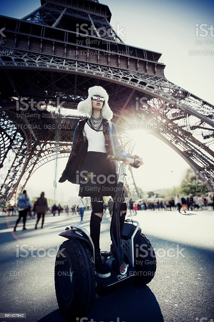 Fashion women in Paris stock photo