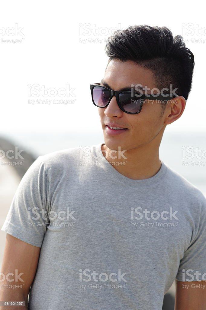 Fashion young man stock photo