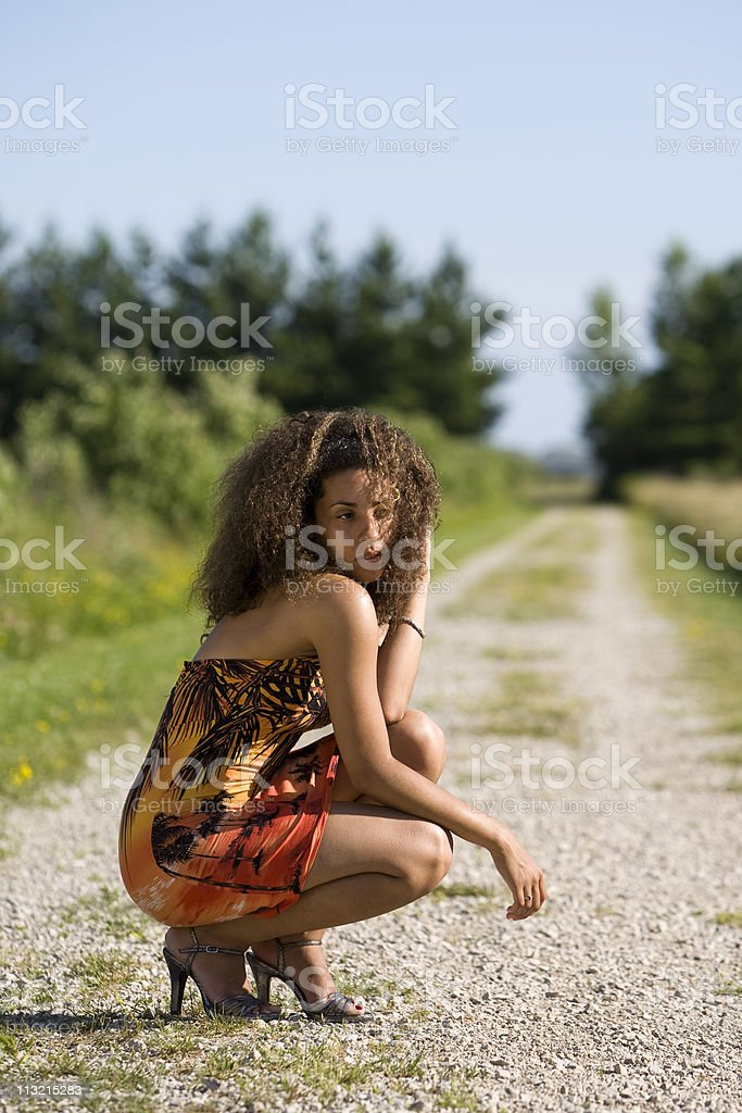 Fashionable African American Woman stock photo