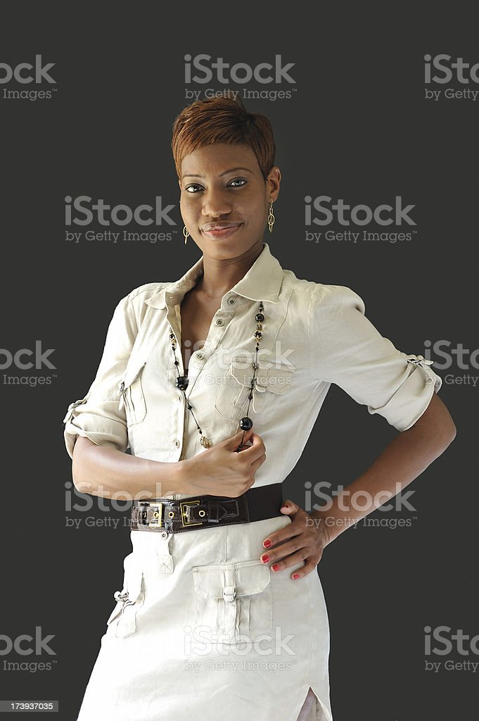 Fashionable African American woman royalty-free stock photo