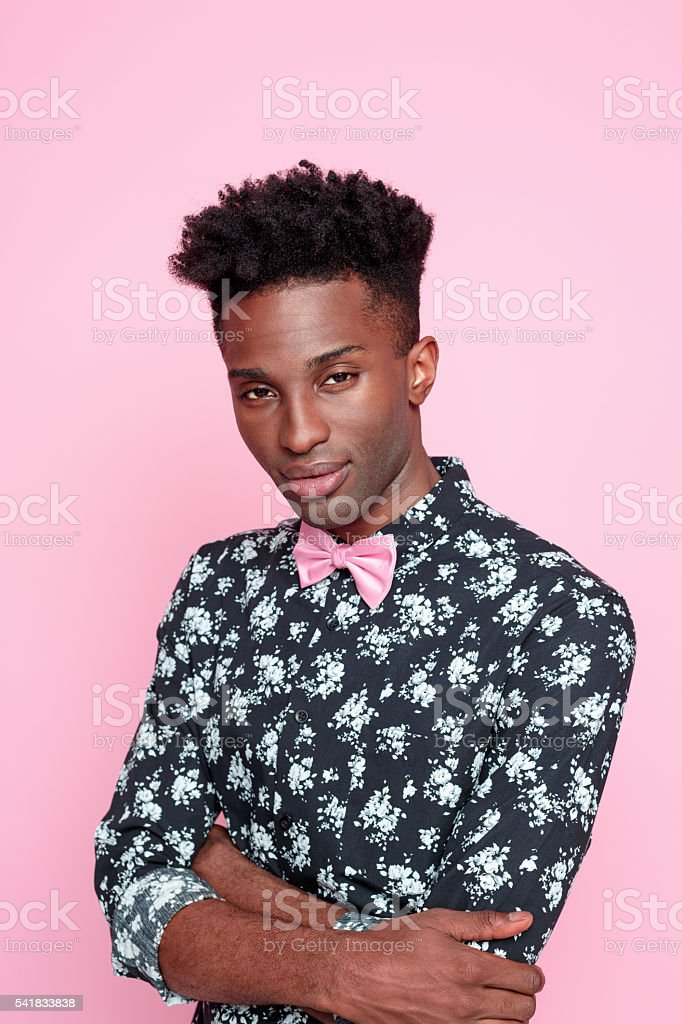 Fashionable afro american young man stock photo
