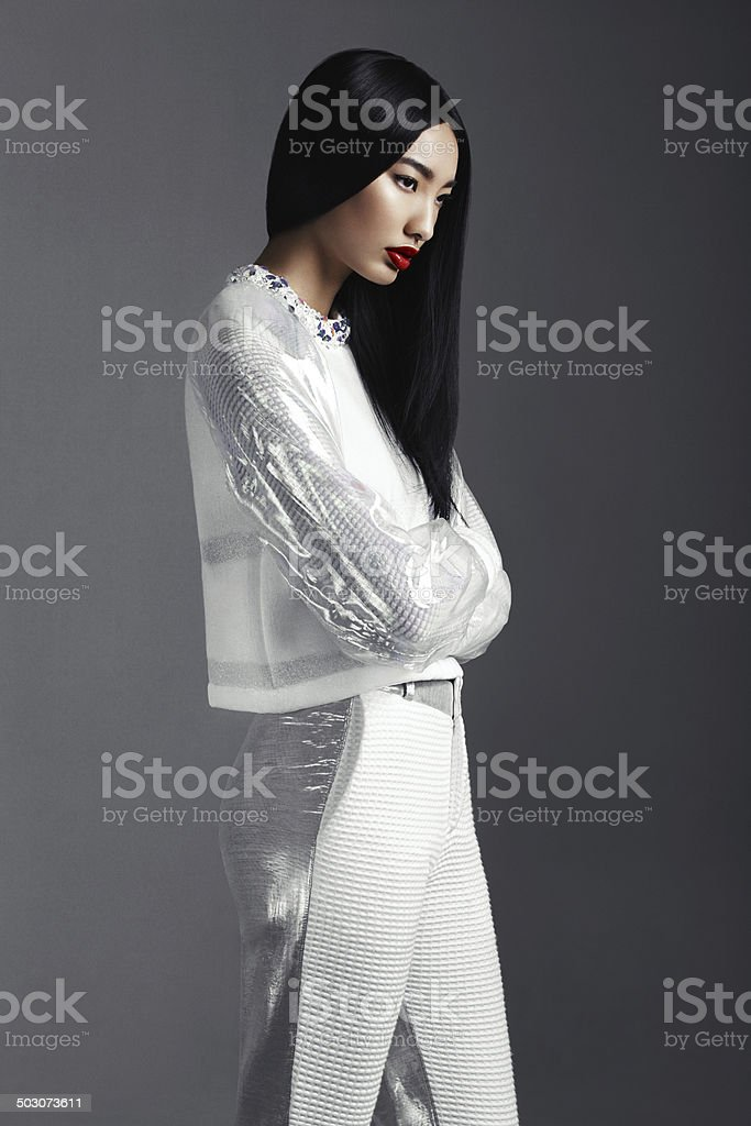Fashionable Asian woman stock photo