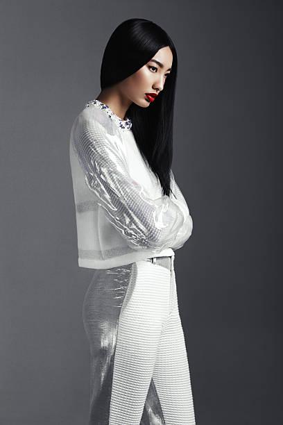 Fashionable Asian woman stock photo