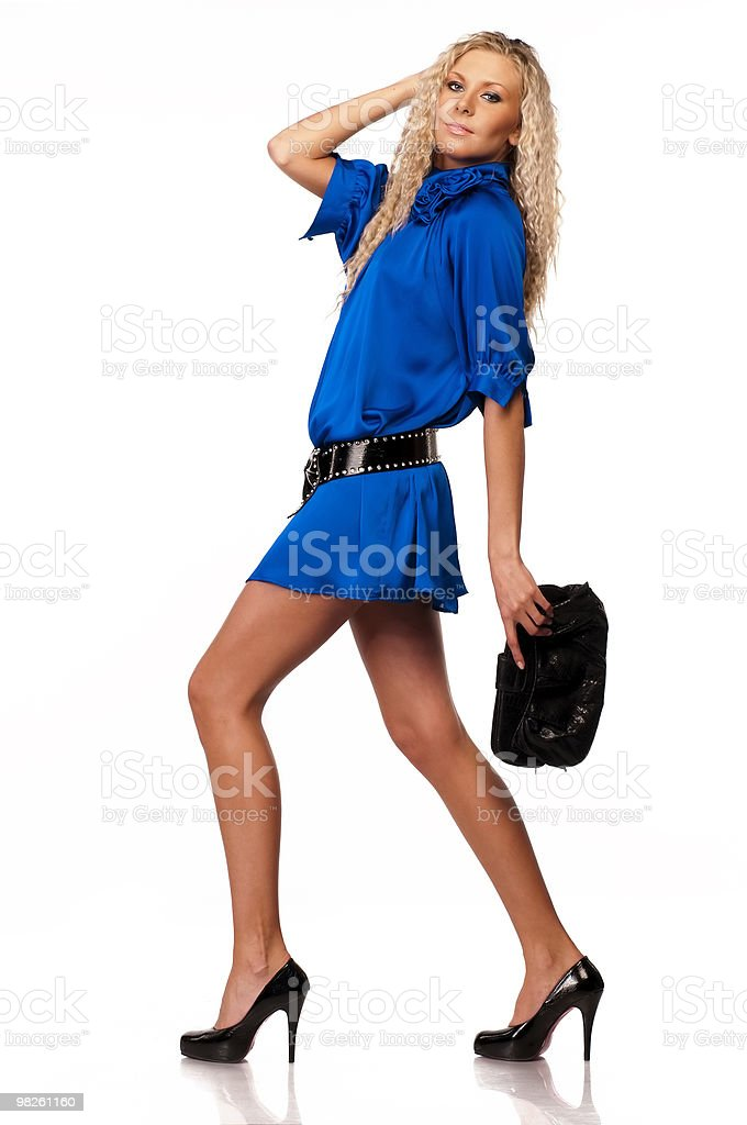 Fashionable blonde royalty-free stock photo