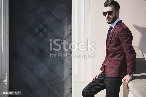 907934274 istock photo Fashionable businessman outdoors 1060181582